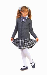 Трикотажная школьная форма для девочек